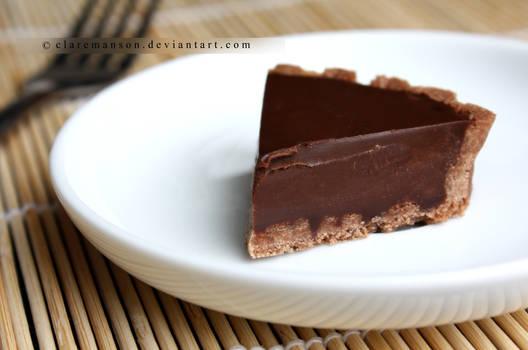 Bitesize Chocolate Cookie Tart Slice (+recipe)