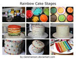 Rainbow Cake Stages