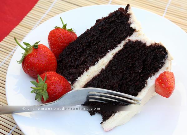 Chocolate And Cream Cake by claremanson
