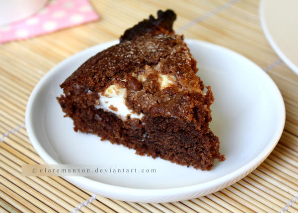 Chocolate Cream Cheese Marble Cake by claremanson