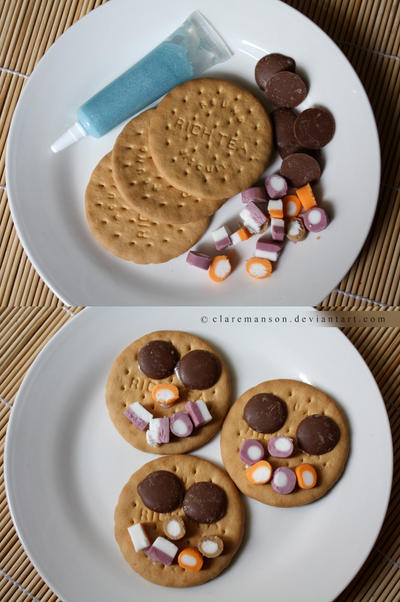 Smiley Faced Biscuits by claremanson