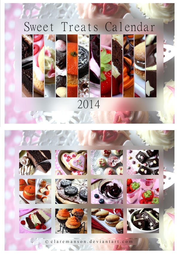 Sweet Treats Calendar 2014 by claremanson