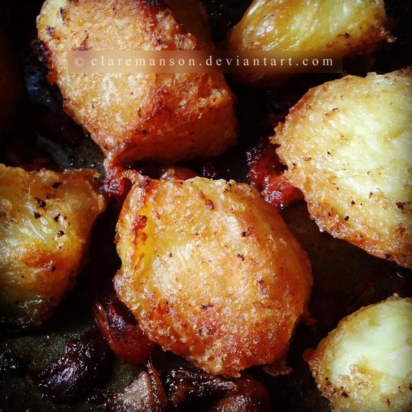 Bacon Roast Potatoes by claremanson
