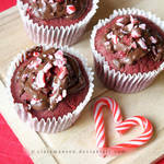 Red Velvet Candy Cane Cupcakes by claremanson