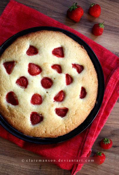 Strawberry Cake by claremanson