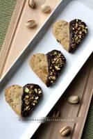 Pistachio and dark chocolate shortbread (+recipe) by claremanson