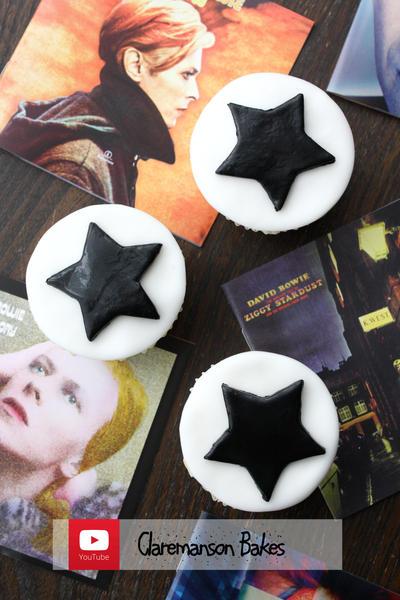 David Bowie Blackstar Cupcakes by claremanson