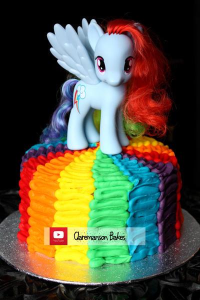 How To Make A Rainbow Dash Cake