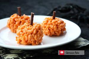 Pumpkin Krispie Treats (+YouTube Recipe)