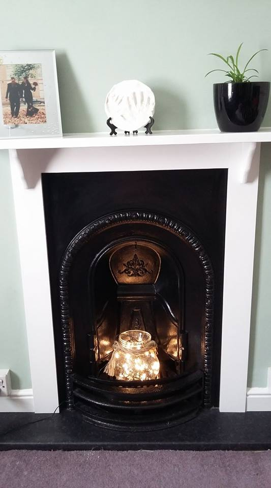 Completed Bedroom Cast Iron Fireplace by claremanson