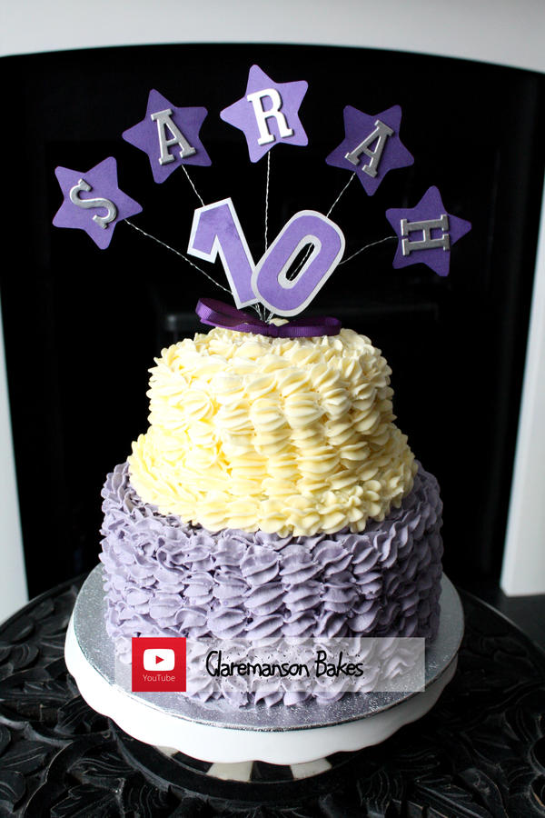 Two Tiered Birthday Cake Youtube Recipe By Claremanson On Deviantart