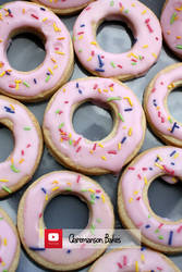 Donut Cookies (+YouTube Recipe) by claremanson
