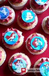 Little Mermaid Cupcakes by claremanson
