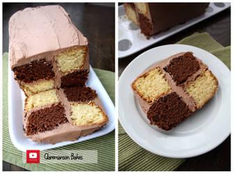 Chocolate Battenberg Cake (+YouTube Recipe) by claremanson