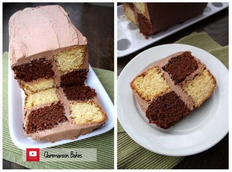 Chocolate Battenberg Cake (+YouTube Recipe)