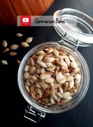 Roasted Pumpkin Seeds (+YouTube Recipe) by claremanson