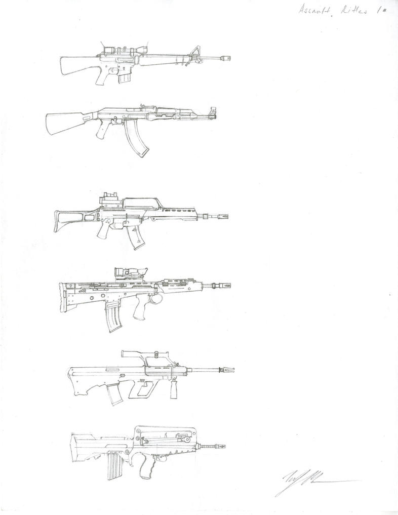 Assault Rifles 1 by leatricee