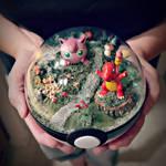 Poke Ball Terrarium - Charmander / Jiggly- Large