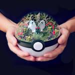 Butterfree Garden - Poke Ball Terrarium