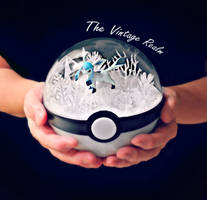 Poke Ball Terrarium - Glaceon Winter Wonerland by TheVintageRealm