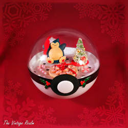 Poke Ball Terrarium - Chritmas Kitchen Snorlax by TheVintageRealm