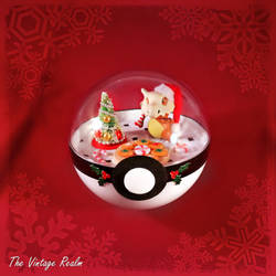 Poke Ball Terrarium - Chritmas Kitchen Cubone by TheVintageRealm