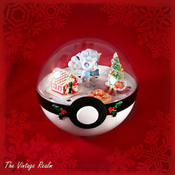 Poke Ball Terrarium - Chritmas Kitchen Vulpix by TheVintageRealm