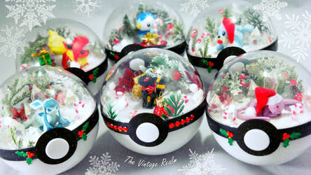 Poke Ball Terrariums - Winter Wonderlands by TheVintageRealm