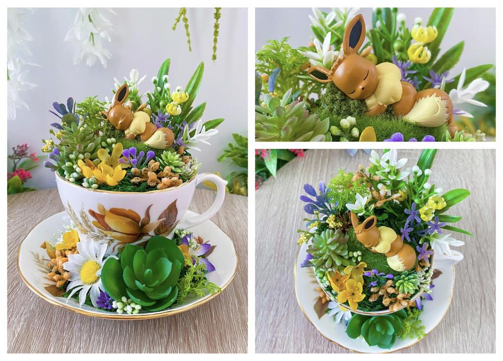 Eevee Tea Cup Terrarium