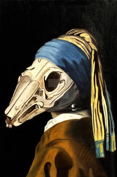 Skull with a Pearl Earring