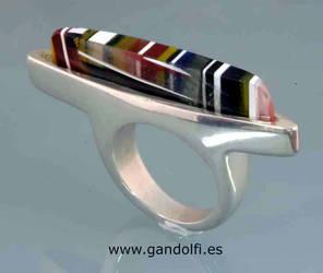 Sterling Silver Ring Resin by gandolfi