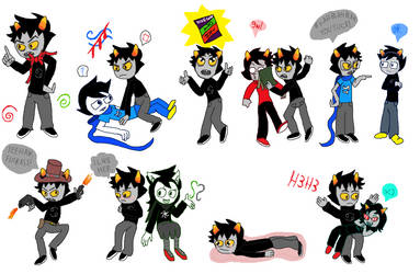 Karkat Sketches by NeptytheArtist