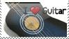 I Love Guitar Stamp by o0Wolf-Spirit0o