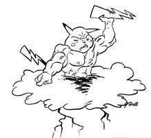 Pikachu by JHALLpokemon