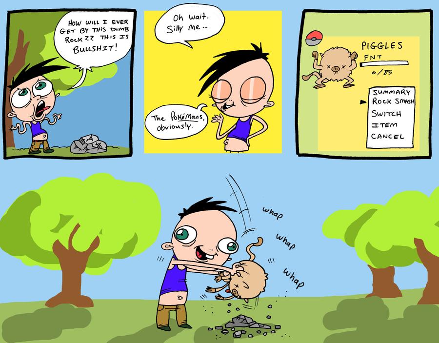 10 Coisas sem sentido no mundo dos pokemons Rock_smashin___by_jhallpokemon-d32kecd