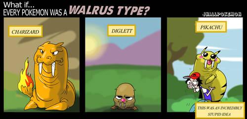 Walrus Types by JHALLpokemon