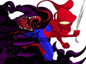 Spidermew by JHALLpokemon