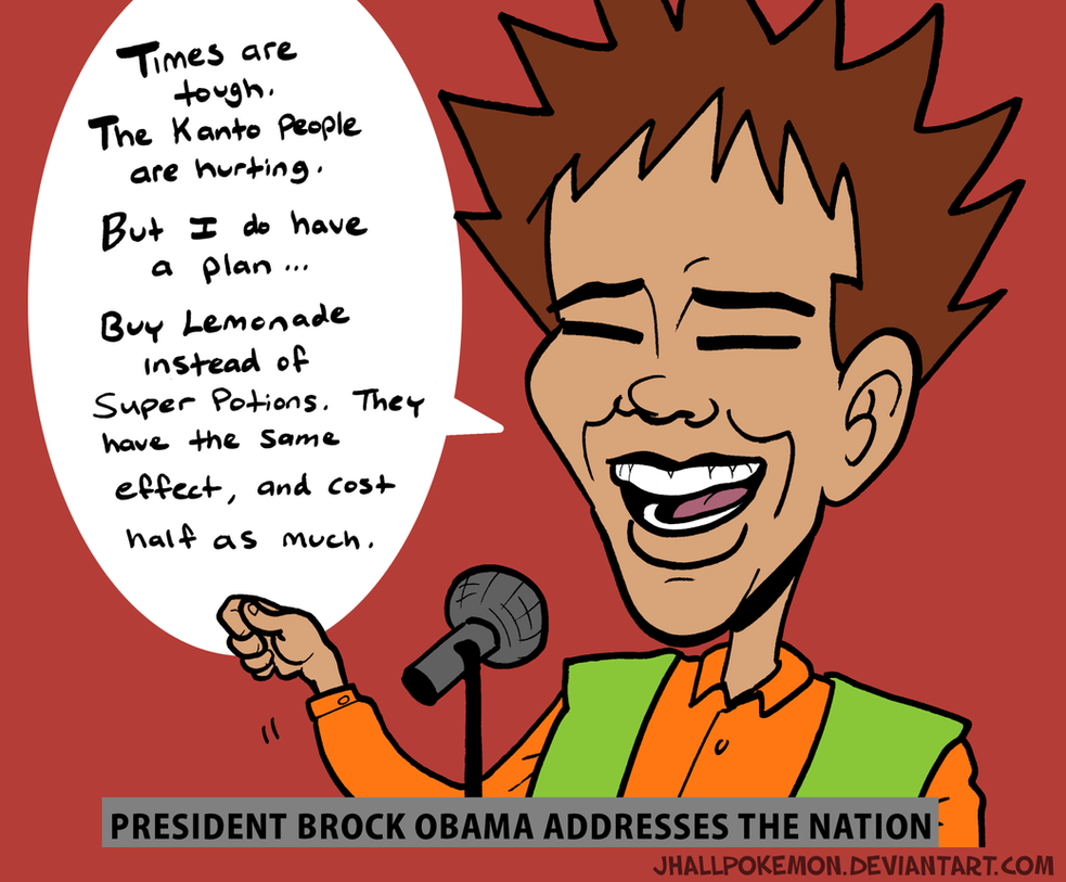 Brock Obama by JHALLpokemon