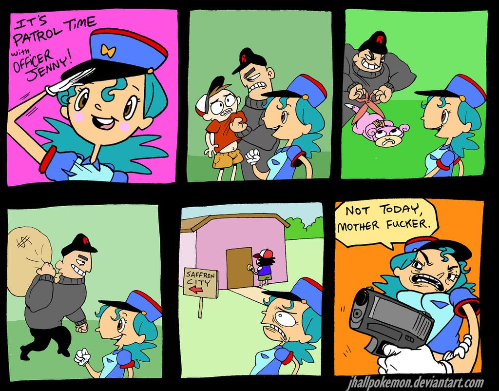 Officer Jenny by JHALLpokemon