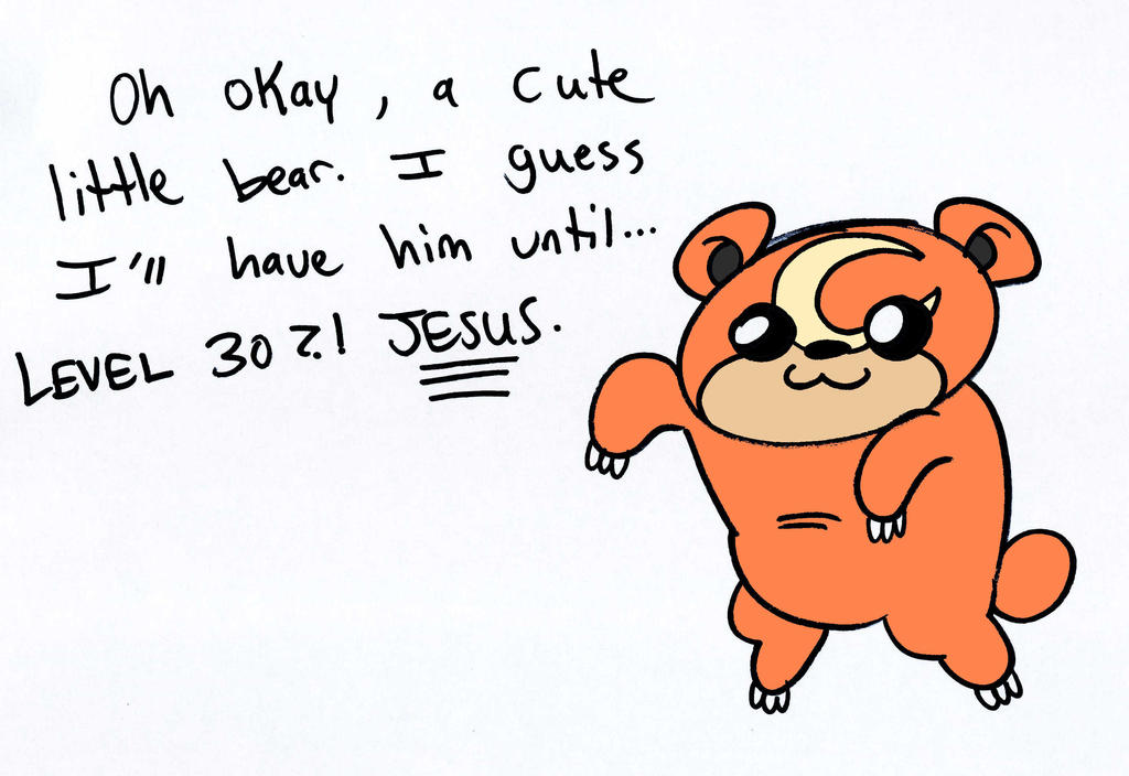 Teddiursa by JHALLpokemon on DeviantArt