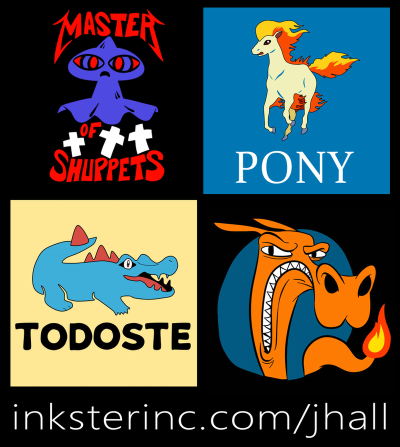 PokeShirts by JHALLpokemon