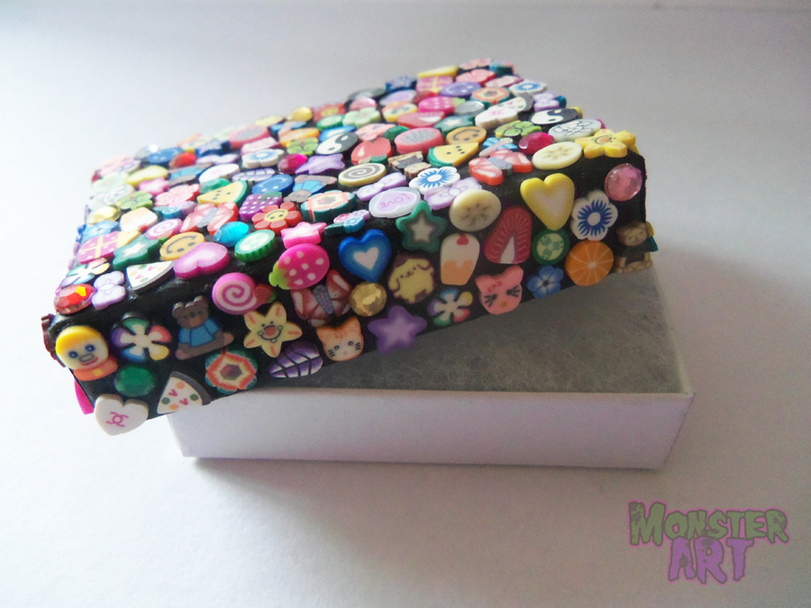 Hand decorated fimo jewellery box by monstart on deviantart