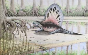 Dimetrodon grandis by RavePaleoArt