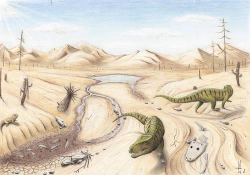 Dry season in Triassic Krasiejow