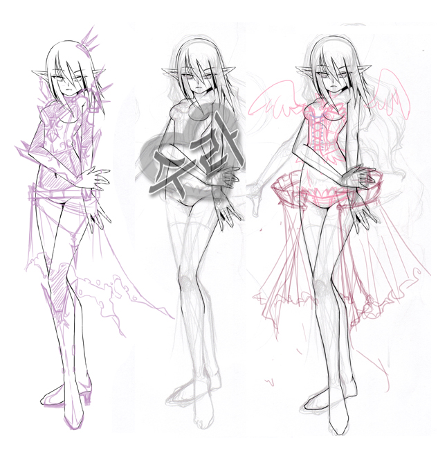 the gallery for gt anime girl clothes designs