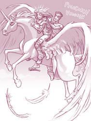 Sketch. Pegacorn. by squidbunny