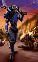 ME2 - Garrus by squidbunny