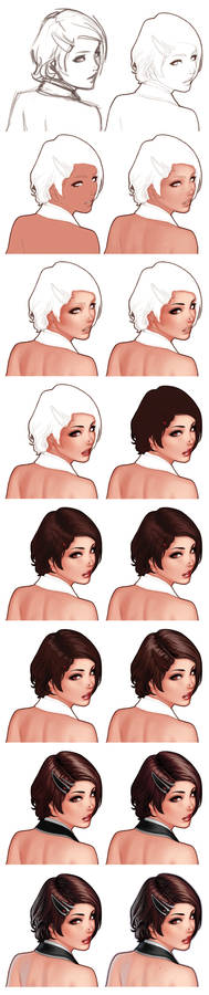 The Face Of Eva - Step By Step