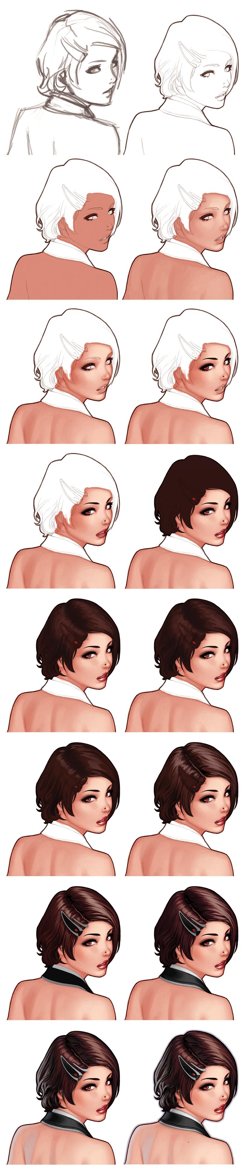 Урок рисование женского лица