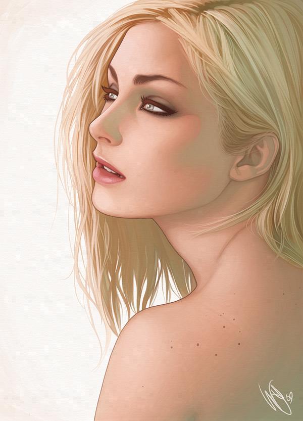 Картинки аниме девушки блондинки